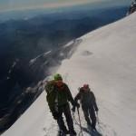 Mont Rose - Sur l'arête sommitale à la pointe Zumstein
