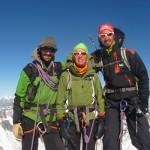 Mont Rose - La cordée au sommet de la pointe Zumstein
