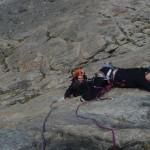 Tour Termier - Ponant neuf - Un des crux dans l'antépénultièmissime longueur