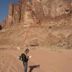 Wadi Rum - Lionheart - Suivre le trait rouge