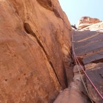 Wadi Rum - Lionheart - La fameuse fingercrack (L2), grandiose