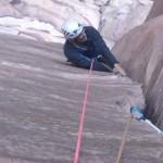 Wadi Rum - Cat Fish Corner - Dans L1, parfois un peu large!
