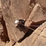 Wadi Rum - Inshallah factor - C'est large mais pas trop dure grâce à la dalle à côté
