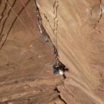 Wadi Rum - Inshallah factor - Le crux, pas large et pas facile à protéger
