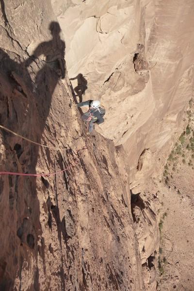 Wadi Rum - Inshallah factor - Le 6a après le crux, classos