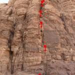 Wadi Rum - Inshallah factor - Descente en rappel de l'oeil d'Allah