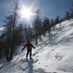 Hors piste Serre Chevalier - Dans la forêt sous la Croix de Nore