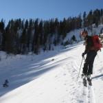 Combe du Malazen - Un skieur