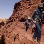 Descente Khazali canyon - Un peu de crapahutage