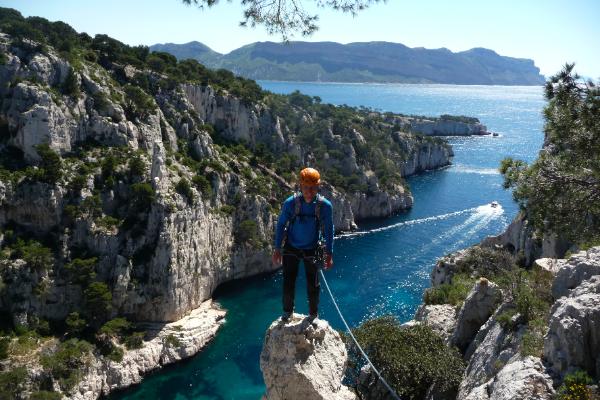 Alpinisme… dans les Calanques!
