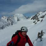 Edson sort au Col du Glacier Blanc