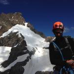 L'arête SSE du Gaspard et le Glacier Claire vue de la Pointe Claire