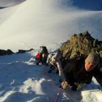 Roche Faurio - Courte partie raide en neige