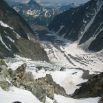 Le Glacier de Miage vue de Gonella