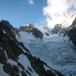 Le Glacier du Dôme qu'on remontera en partie demain
