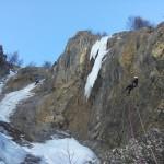 Initiation cascade de glace - Chambran - Un rappel sympathique