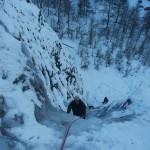 Cascade de glace - Fresinières - Paulo Folie - Première longueur