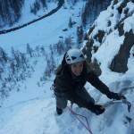 Cascade de glace - Fresinières - Paulo Folie - Marie kiffe la glace!