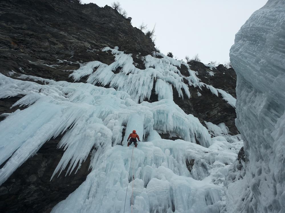 Cascade de glace – Esmeralda