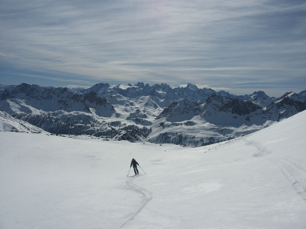 Raid à ski dans les Cerces