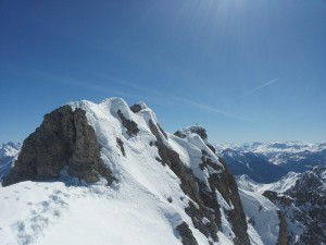 Ski Béal Traversier - L'arête du Béal Traversier