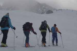 Raid Queyras - Montée au Col Blanchet