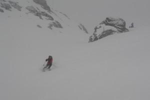 Raid Queyras - Descente du Col Blanchet