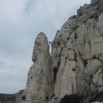 Escalade Calanques - Grimpeur dans le pas des Marseillais