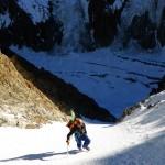 Couloir NE de Tré la tête - Face au majestueux Mont-Blanc