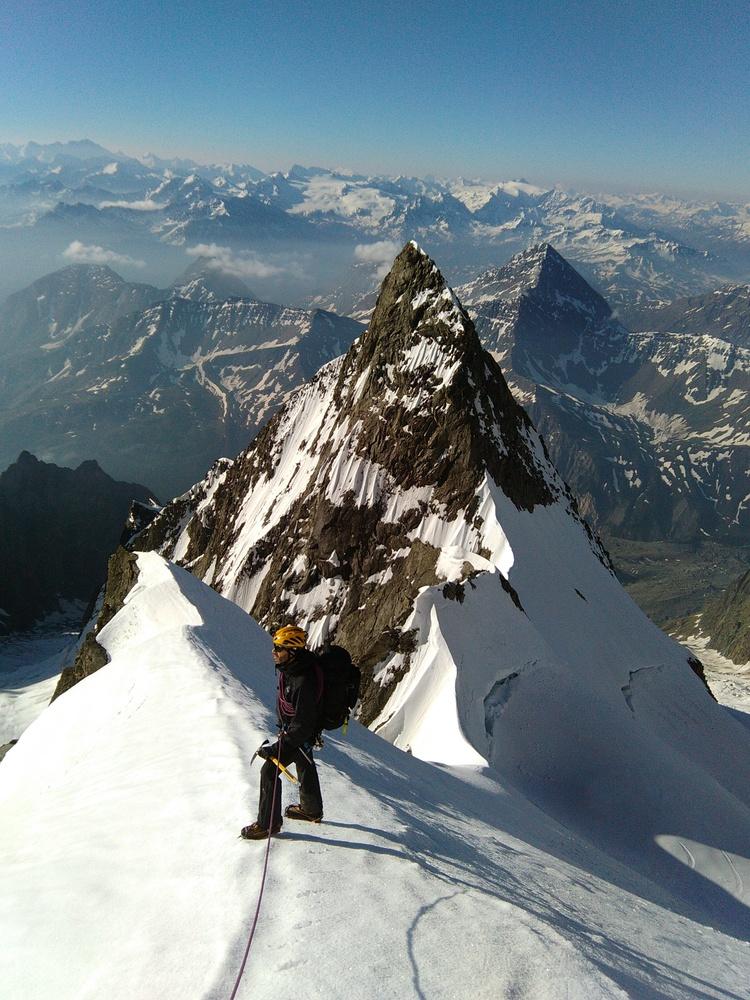 Mont-Blanc - Inominata - Devant la Punta inominata