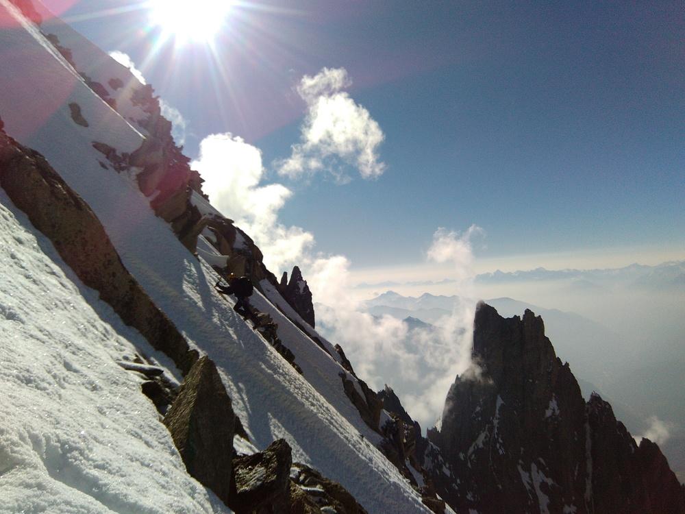 Mont-Blanc - Inominata - Montée au bivouac