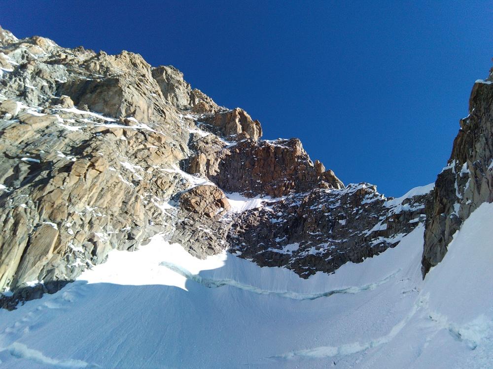 Mont-Blanc - Inominata - Vue sur l'itinéraire