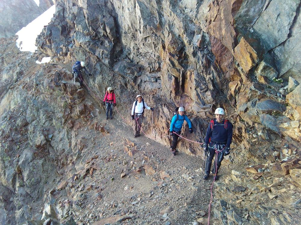 Stage alpinisme - Col de Monetier - La vire