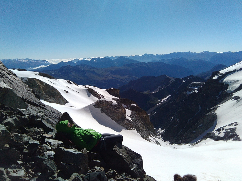 Stage alpinisme - Col de Monetier - La sieste