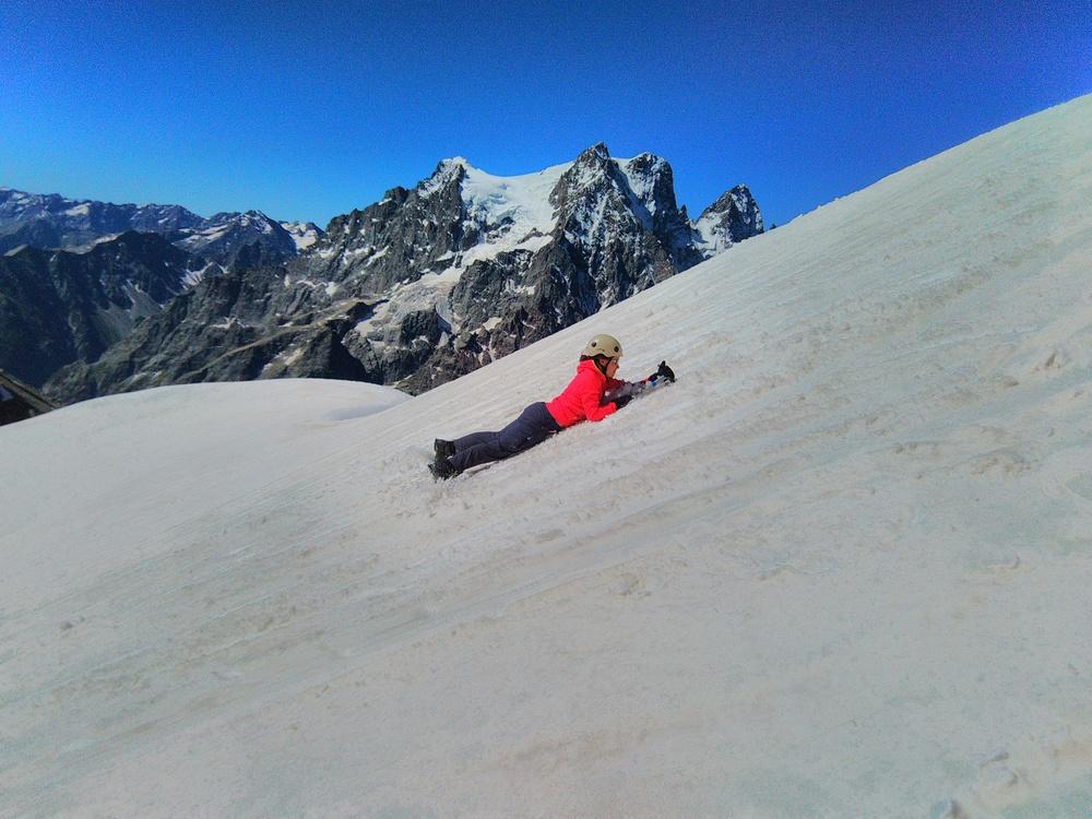 Stage alpinisme - Ecole de neige devant pelvoux