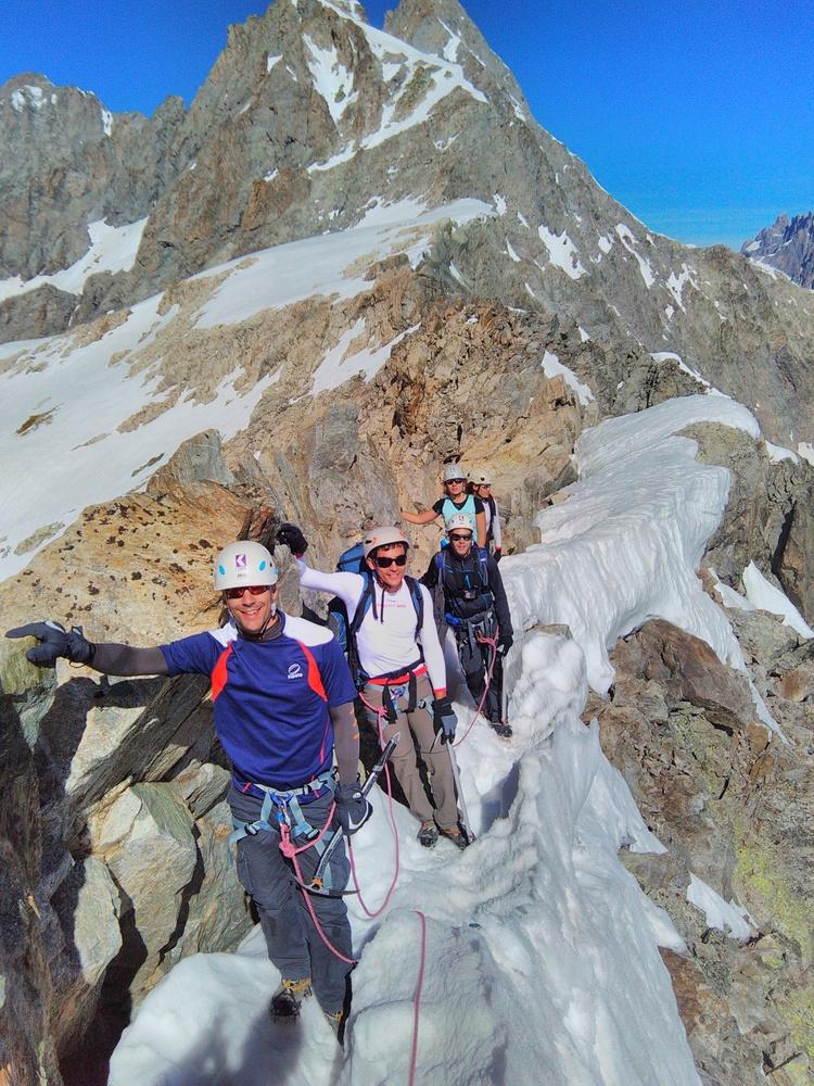 Stage alpinisme - Sur l'arête du Pic d'Arsine