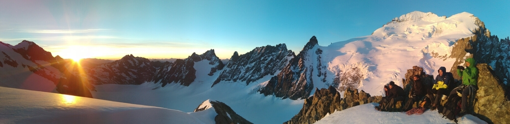 Stage alpinisme - Levé de soleil