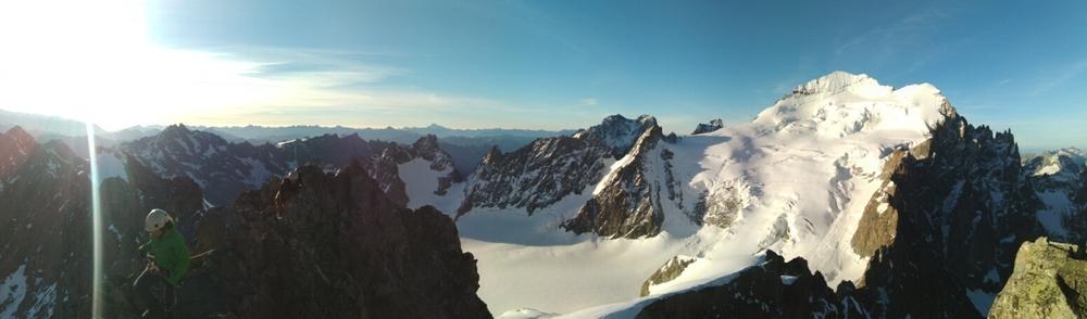 Stage alpinisme - Sur l'arête de la Roche Faurio