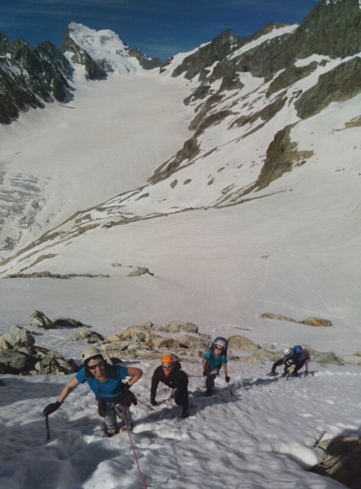 Initiation Alpinisme - Pic d'Arsine, la pente!