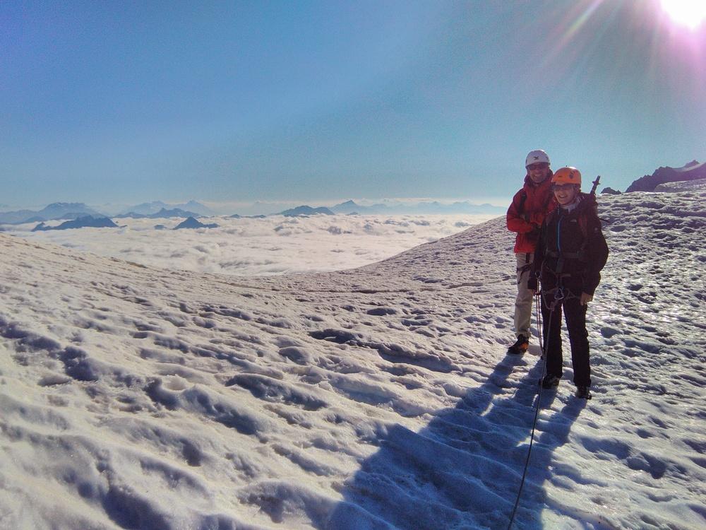 Traversée Pointe Cézanne - Pic du Glacier Blanc - Mer de nuage