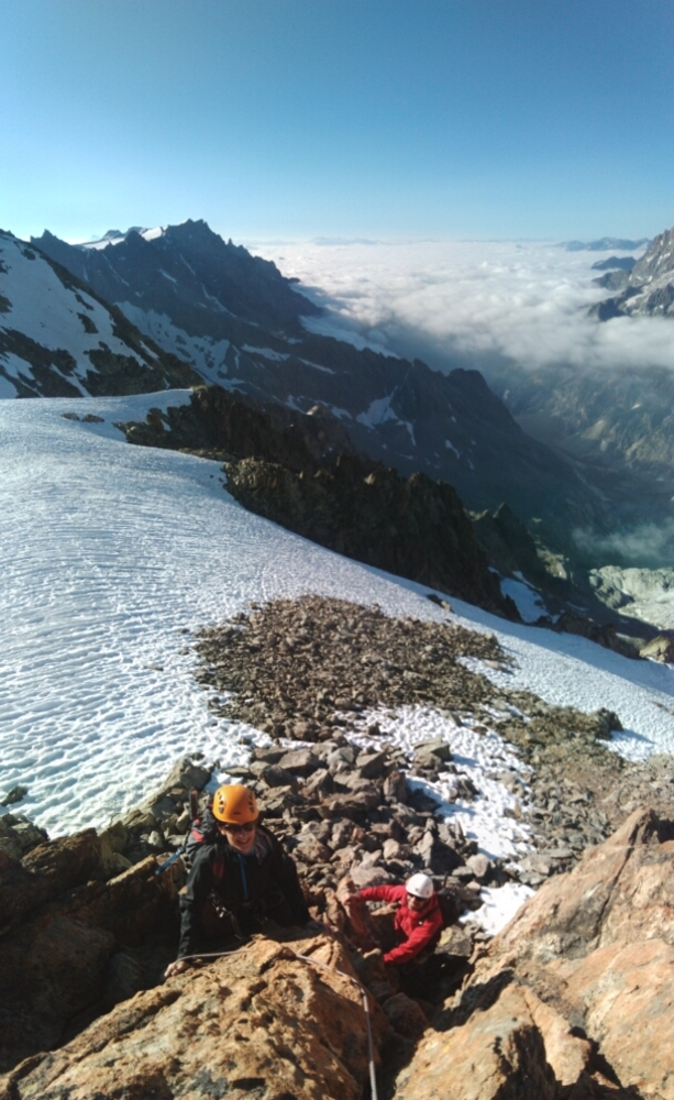 Traversée Pointe Cézanne - Pic du Glacier Blanc - Avant le Pic d'Arsine