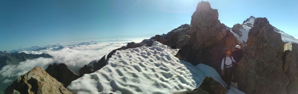 Traversée Pointe Cézanne - Pic du Glacier Blanc - Sur l'arête du Pic d'Arsine