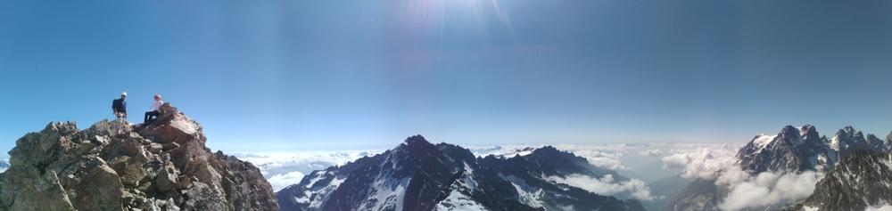 Traversée Pointe Cézanne - Pic du Glacier Blanc - Sommet