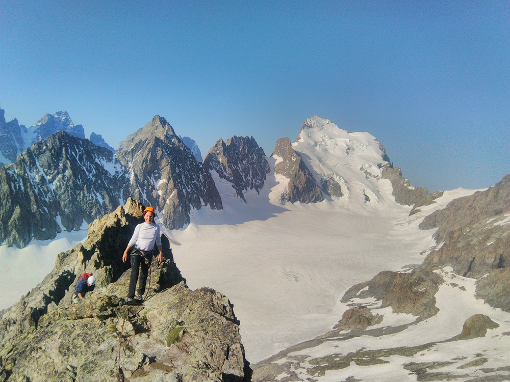 Pic du Glacier Blanc - Arête S - Vue sympa