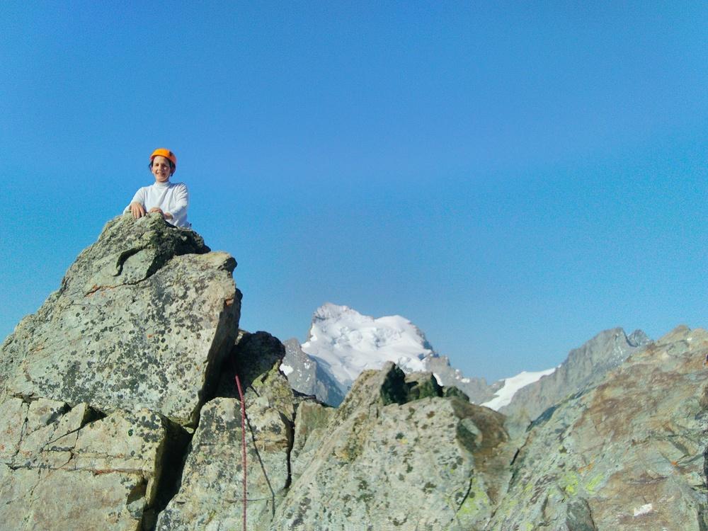 Pic du Glacier Blanc - Arête Sud - Devant la Barre