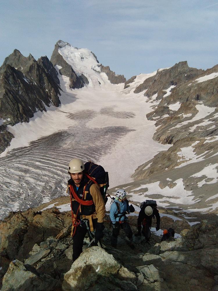 Stage autonomie alpinisme - Arrivée au Pic d'Arsine