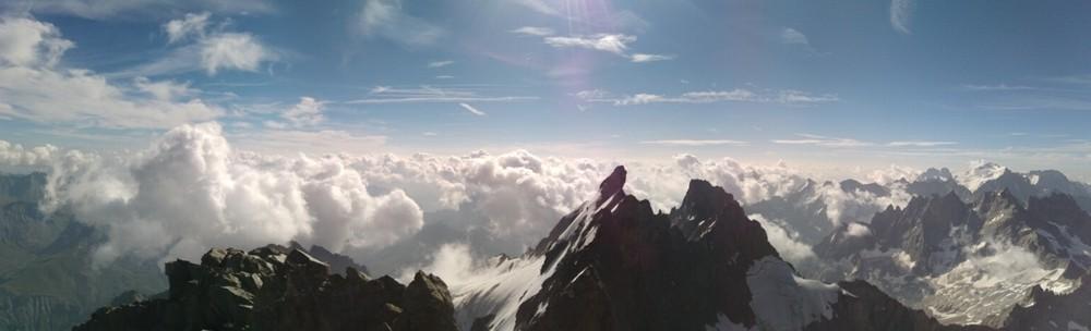 Traversée de la meije - Vue du sommet