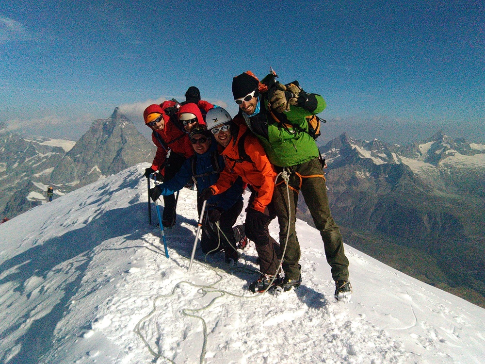 Breithorn Occidental - Au sommet
