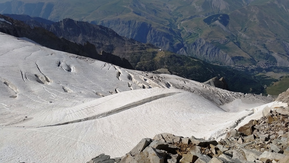 Traversée de la meije - Le Glacier après les Enfetchores