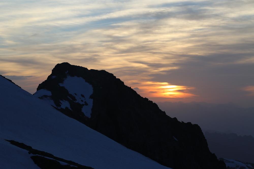 initiation alpinisme - Levé de soleil à la Roche Faurio